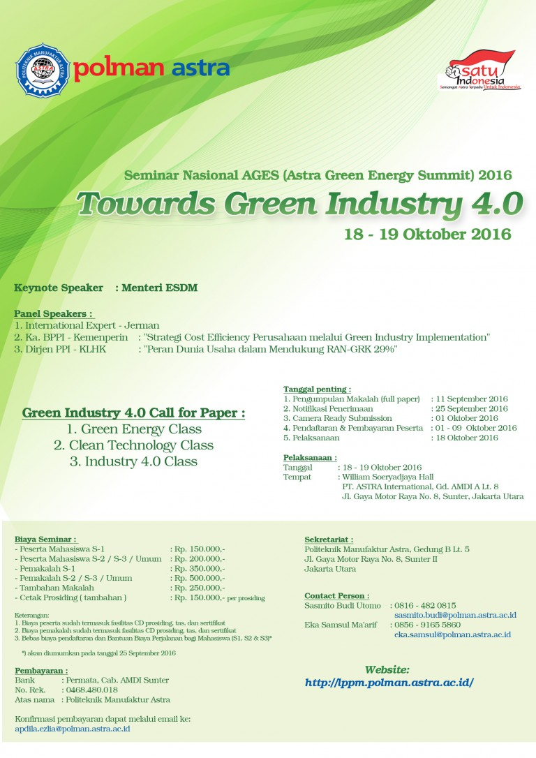 Seminar Nasional Astra Green Energy Summit 2016